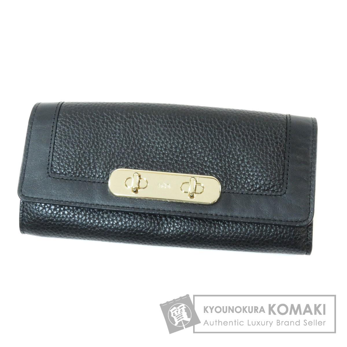 COACH 54062 ロゴモチーフ 長財布(小銭入れあり) レザー レディース 【中古】【コーチ】