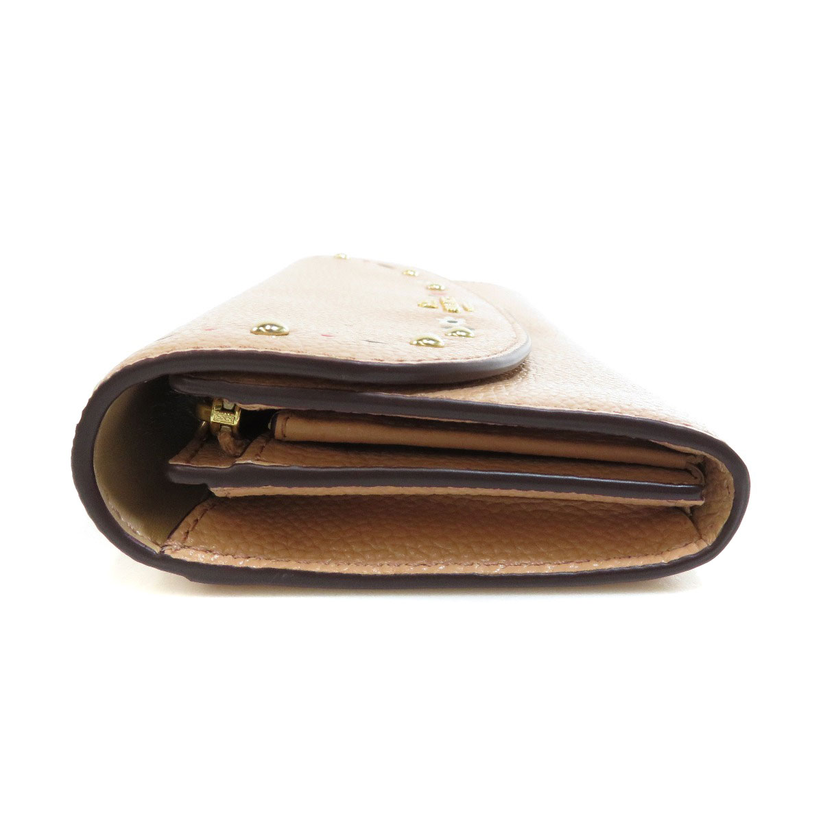 007031fba338 ... COACH F26786 フラワーモチーフ 長財布(小銭入れあり) レザー レディース ...