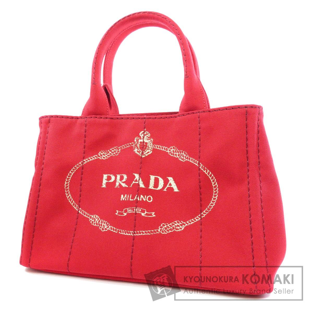 PRADA 1BG439 カナパ ミニ 2way ハンドバッグ キャンバス レディース 【中古】【プラダ】