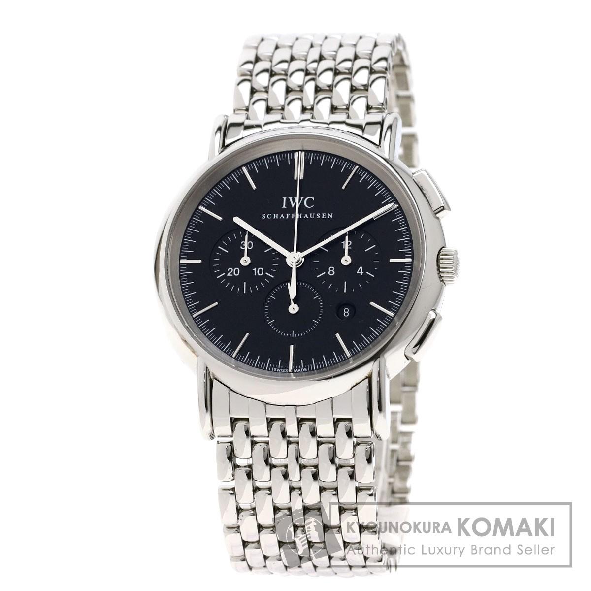 IWC IW372406 ポートフィノ クロノグラフ 腕時計 ステンレススチール/SS メンズ 【中古】【インターナショナルウォッチカンパニー】