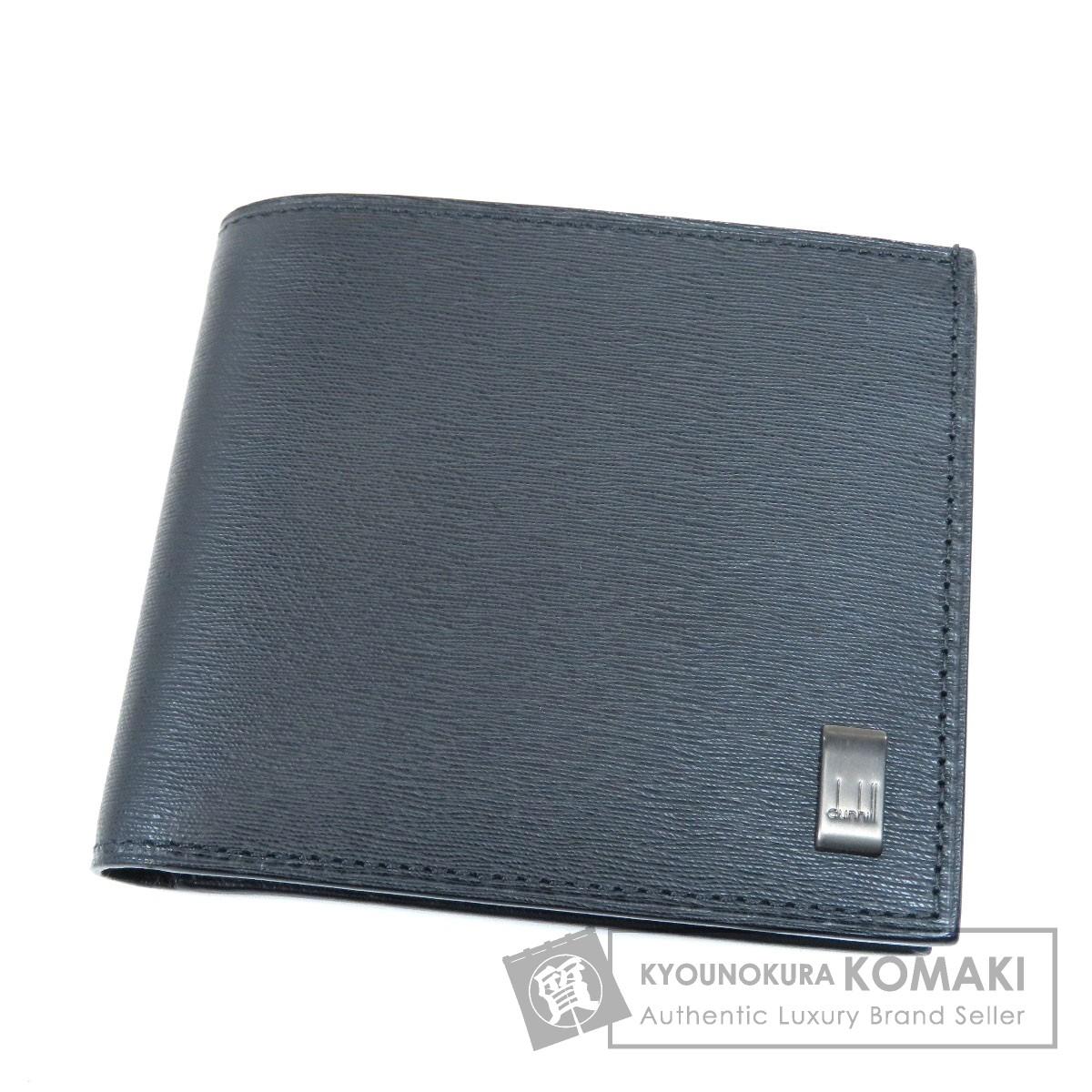 Dunhill ロゴプレート 二つ折り財布(小銭入れあり) レザー メンズ 【中古】【ダンヒル】