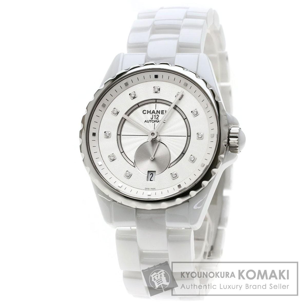 90ec42f86fe8 CHANEL H4345 J12/11Pダイヤモンド 腕時計 セラミック/セラミックxSS メンズ 【中古】【