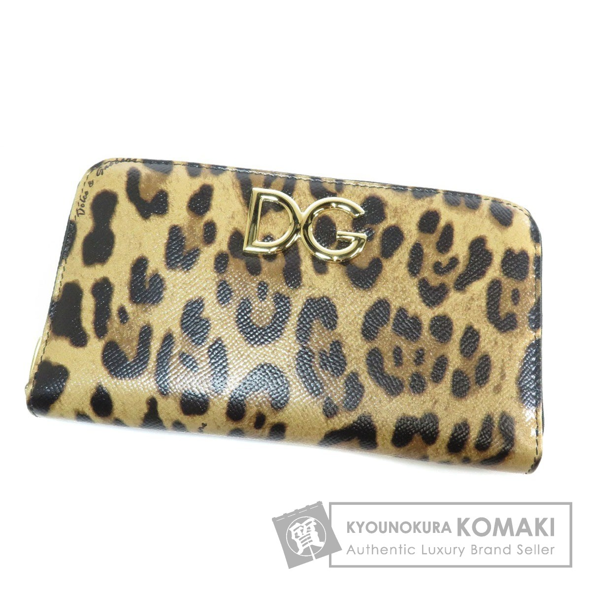 Dolce&Gabbana レオバード柄 長財布(小銭入れあり) PVC レディース 【中古】【ドルチェアンドガッバーナ】