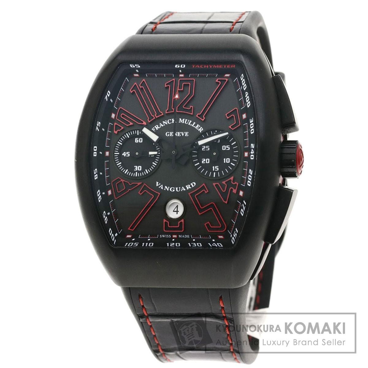 フランクミュラー V45CCDT ヴァンガード クロノ 腕時計 チタン/革xラバー メンズ 【中古】【FRANCK MULLER】