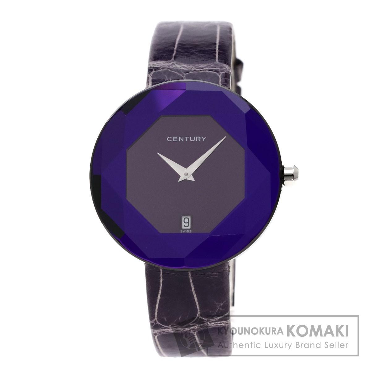 センチュリー 832.6.H.65D.12.CVK タイムジェム 腕時計 ステンレススチール/革 メンズ 【中古】【CENTURY】