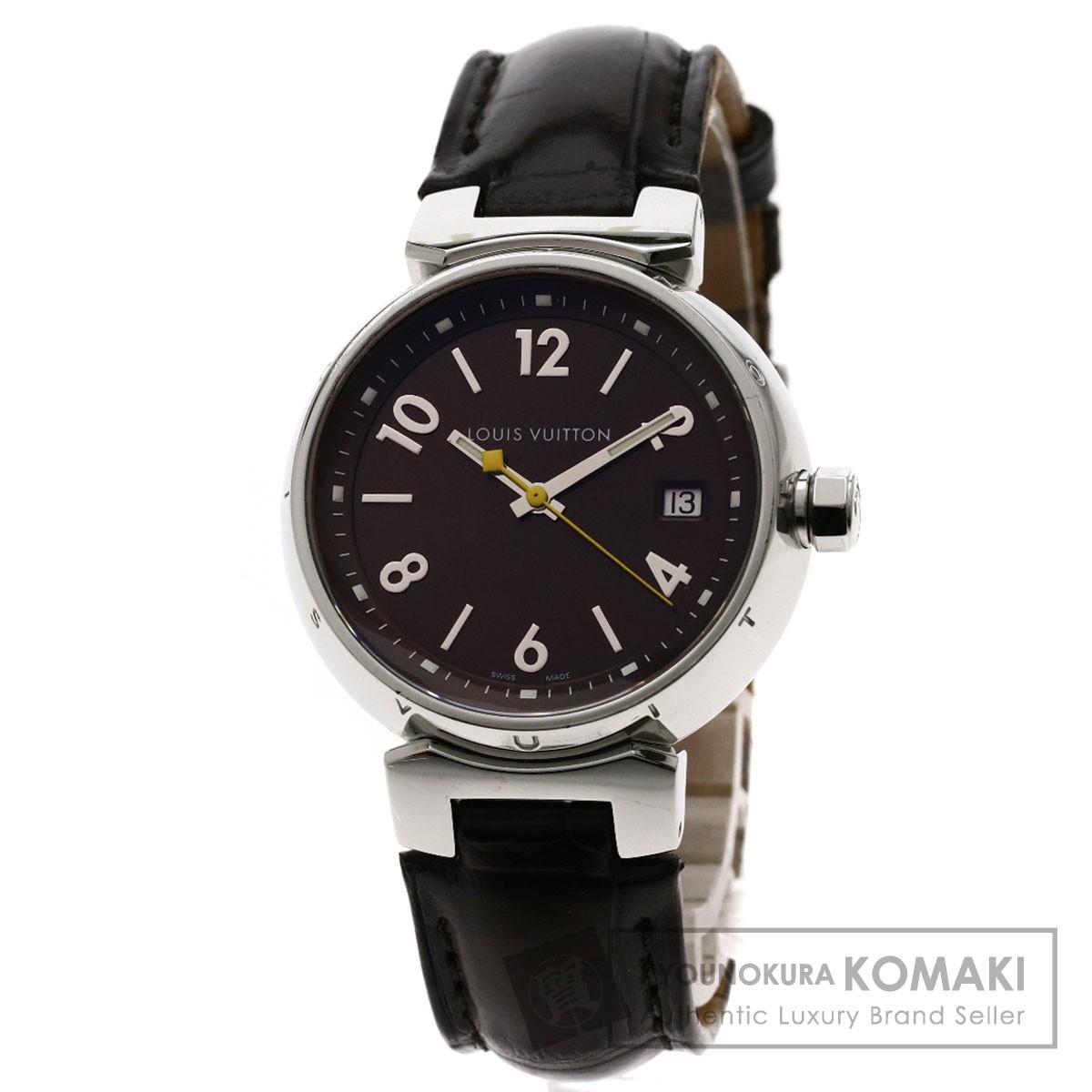 ルイヴィトン Q1311 タンブール 腕時計 ステンレススチール/革 レディース 【中古】【LOUIS VUITTON】