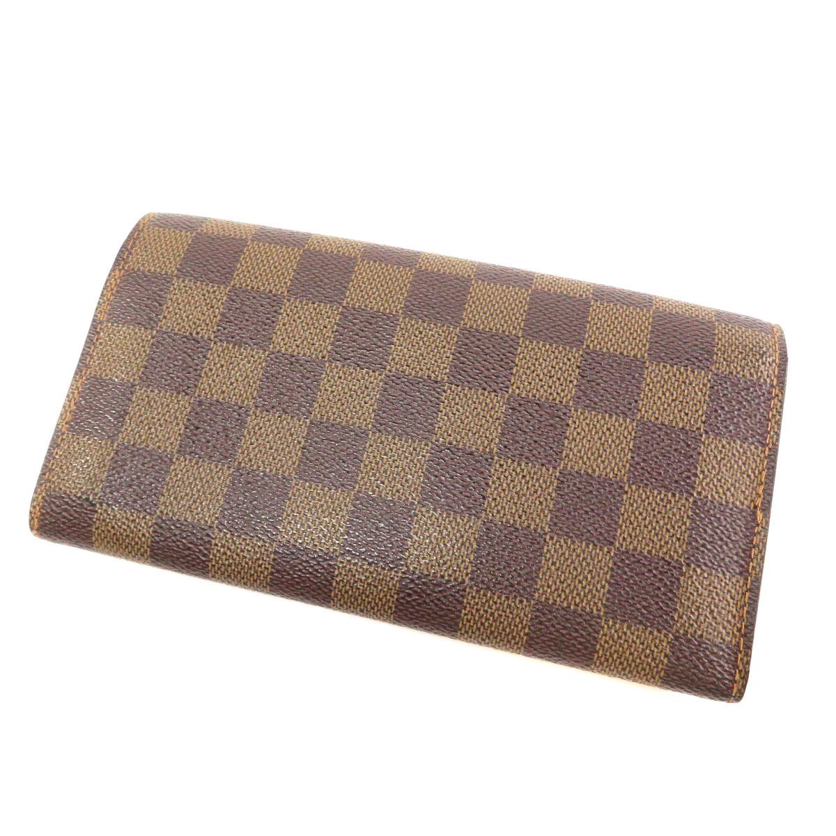 037031b15dfc ルイヴィトン N61724 旧 長財布(小銭入れあり) ダミエキャンバス ...