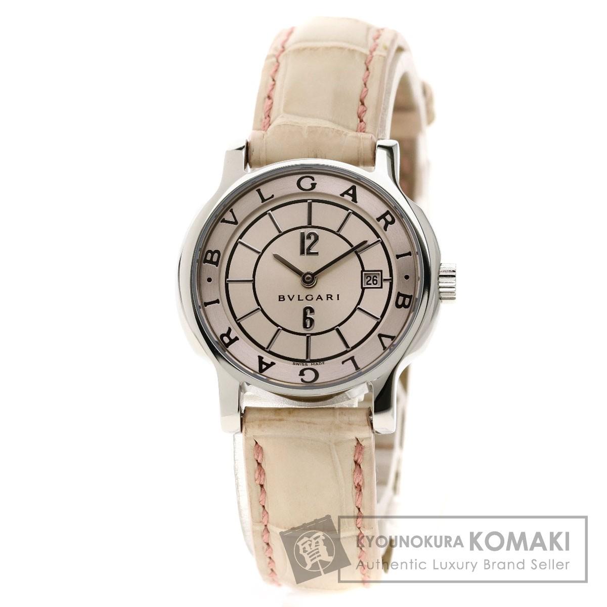 ブルガリ ST29S ソロテンポ 腕時計 ステンレススチール/革 レディース 【中古】【BVLGARI】