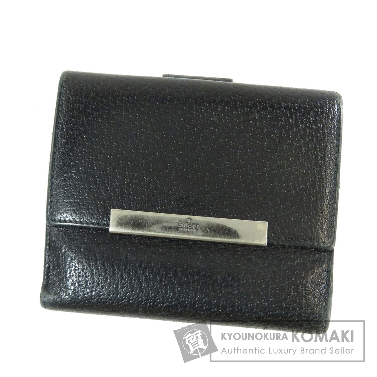 1a5011e27787 グッチ 035・3731 ロゴ金具 二つ折り財布(小銭入れあり) レザー メンズ