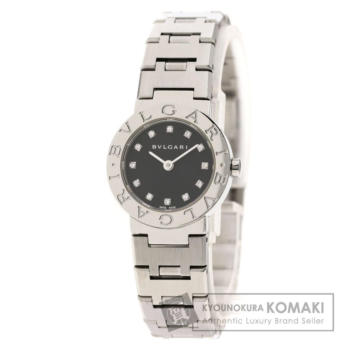 ブルガリ BB23SS/12 ブルガリブルガリ 12Pダイヤモンド 腕時計 ステンレススチール/SS レディース 【中古】【BVLGARI】