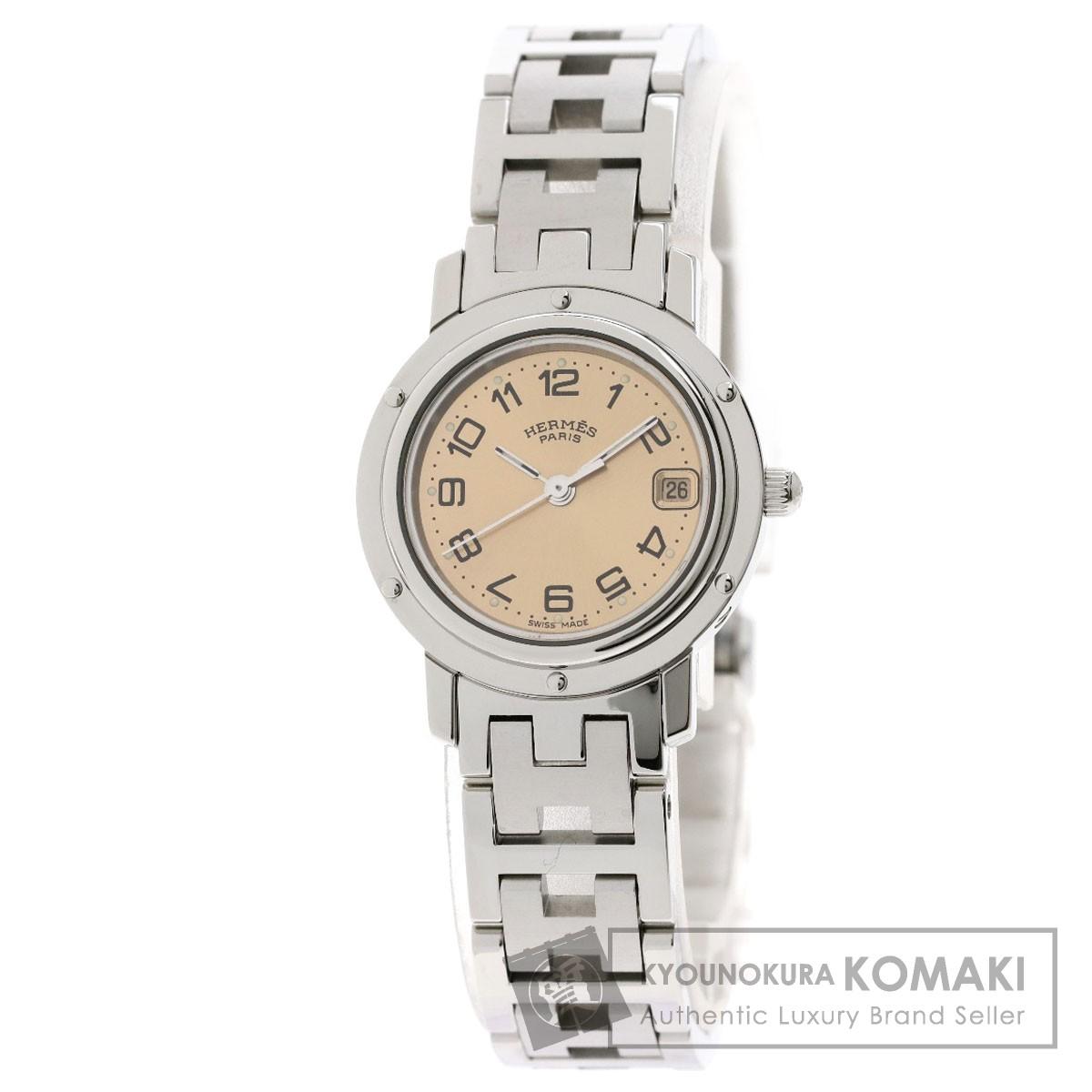 エルメス CL4.210 クリッパー 腕時計 ステンレススチール/SS レディース 【中古】【HERMES】