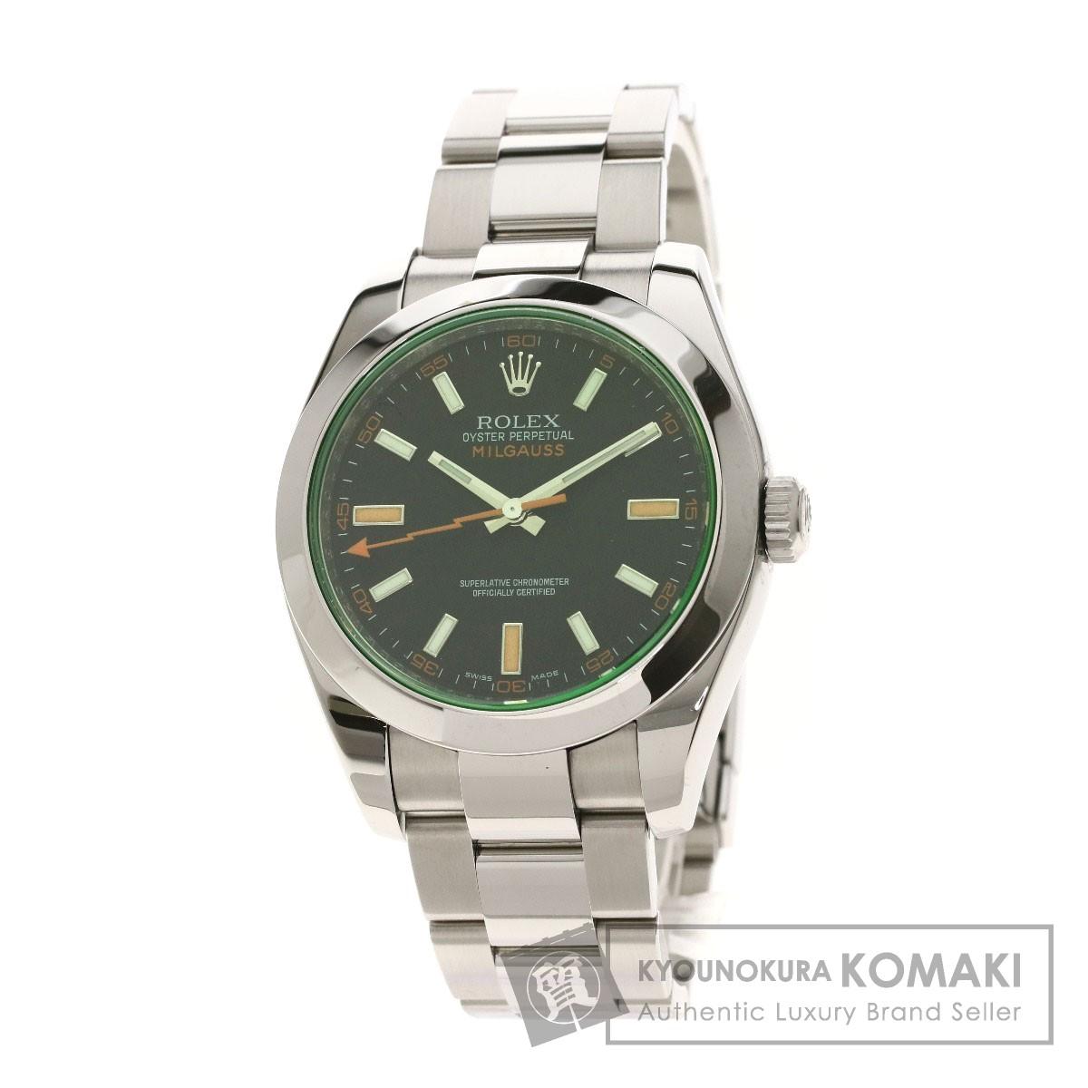 ロレックス 116400GV ミルガウス 腕時計 ステンレススチール メンズ 【中古】【ROLEX】