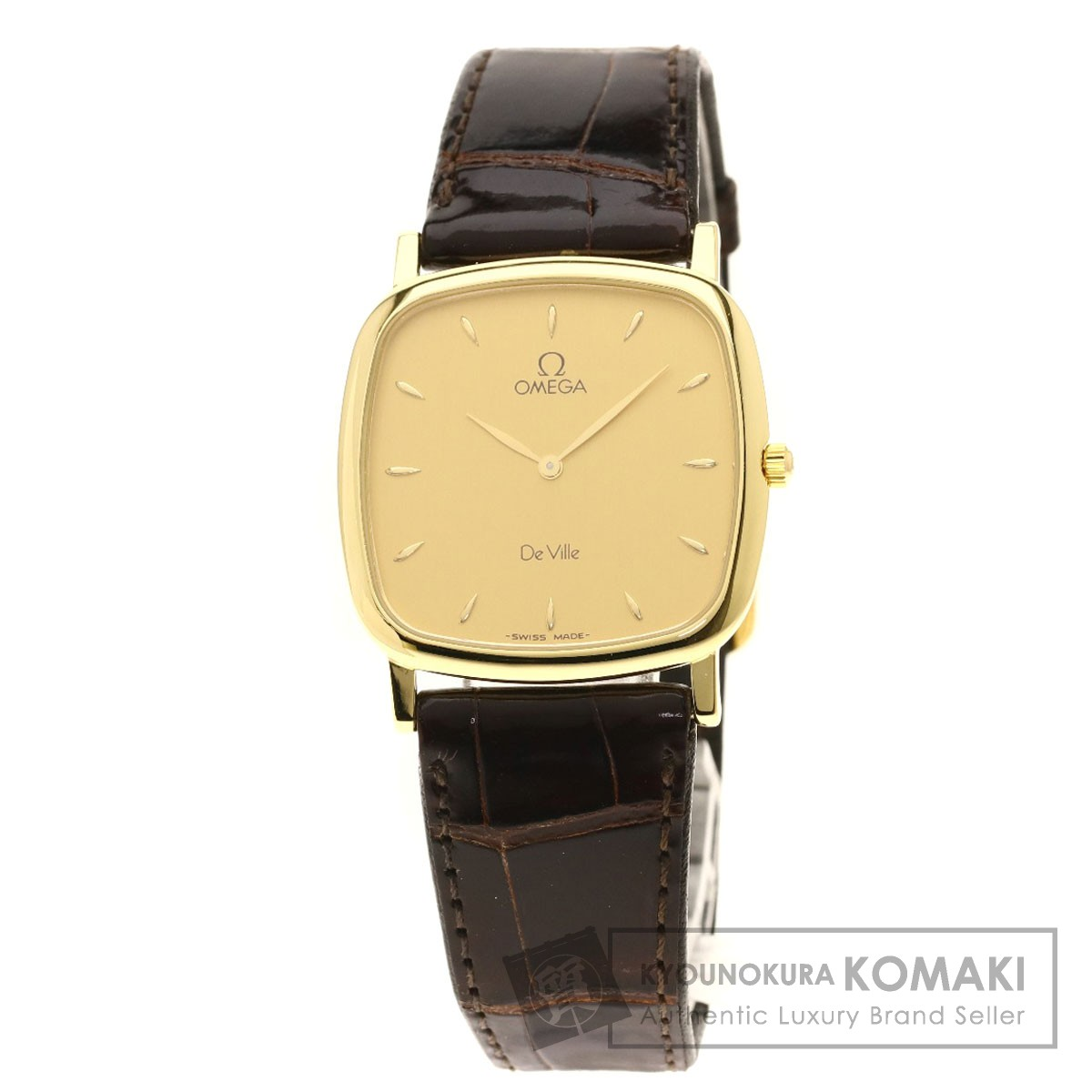 オメガ デビル 腕時計 K18イエローゴールド/アリゲーター メンズ 【中古】【OMEGA】