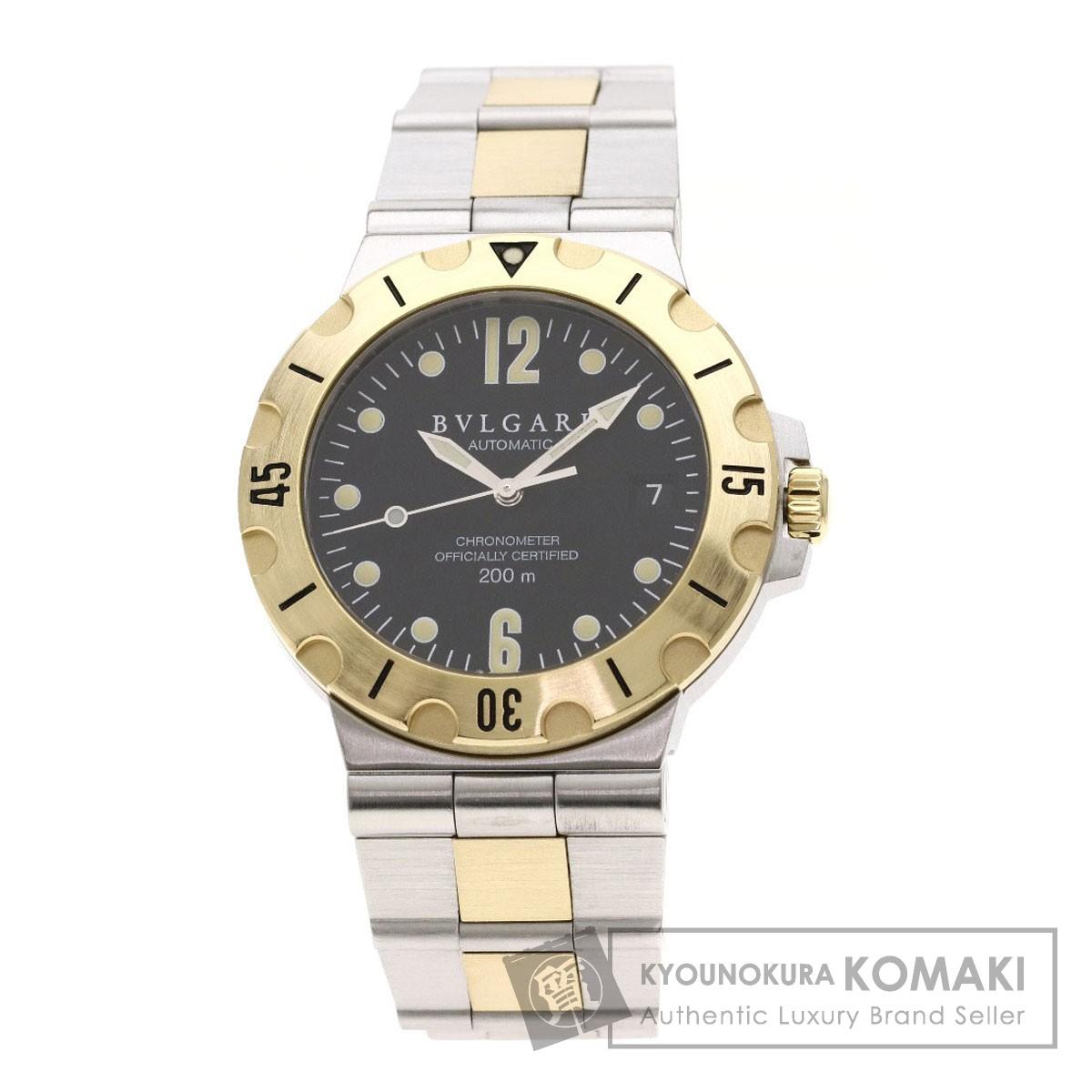 ブルガリ SD38SGD ディアゴノ プロフェッショナル スクーバ 腕時計 ステンレススチール/SSxK18YG メンズ 【中古】【BVLGARI】