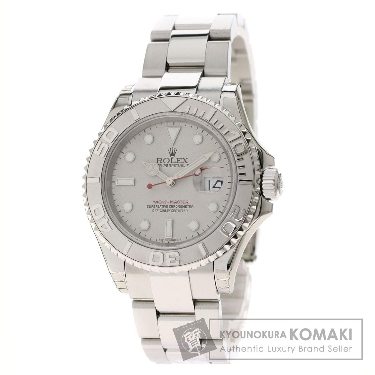 ロレックス 16622 ヨットマスター ロレジウム 腕時計 OH済 ステンレススチール/プラチナ メンズ 【中古】【ROLEX】