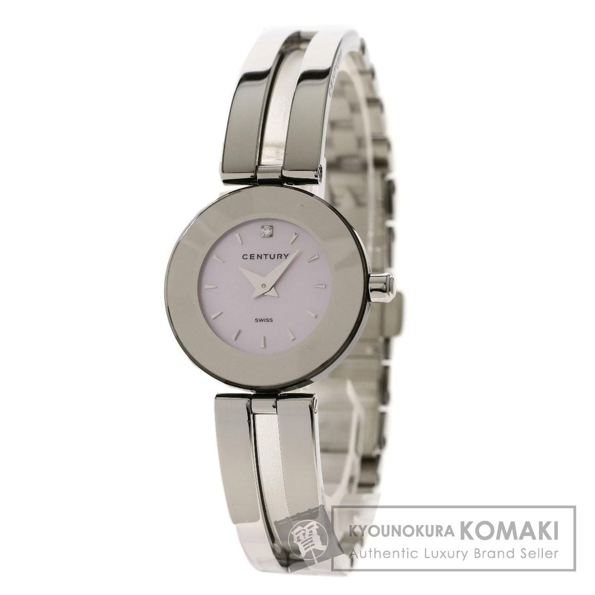 センチュリー 1Pダイヤモンド 腕時計 ステンレススチール/SS レディース 【中古】【CENTURY】