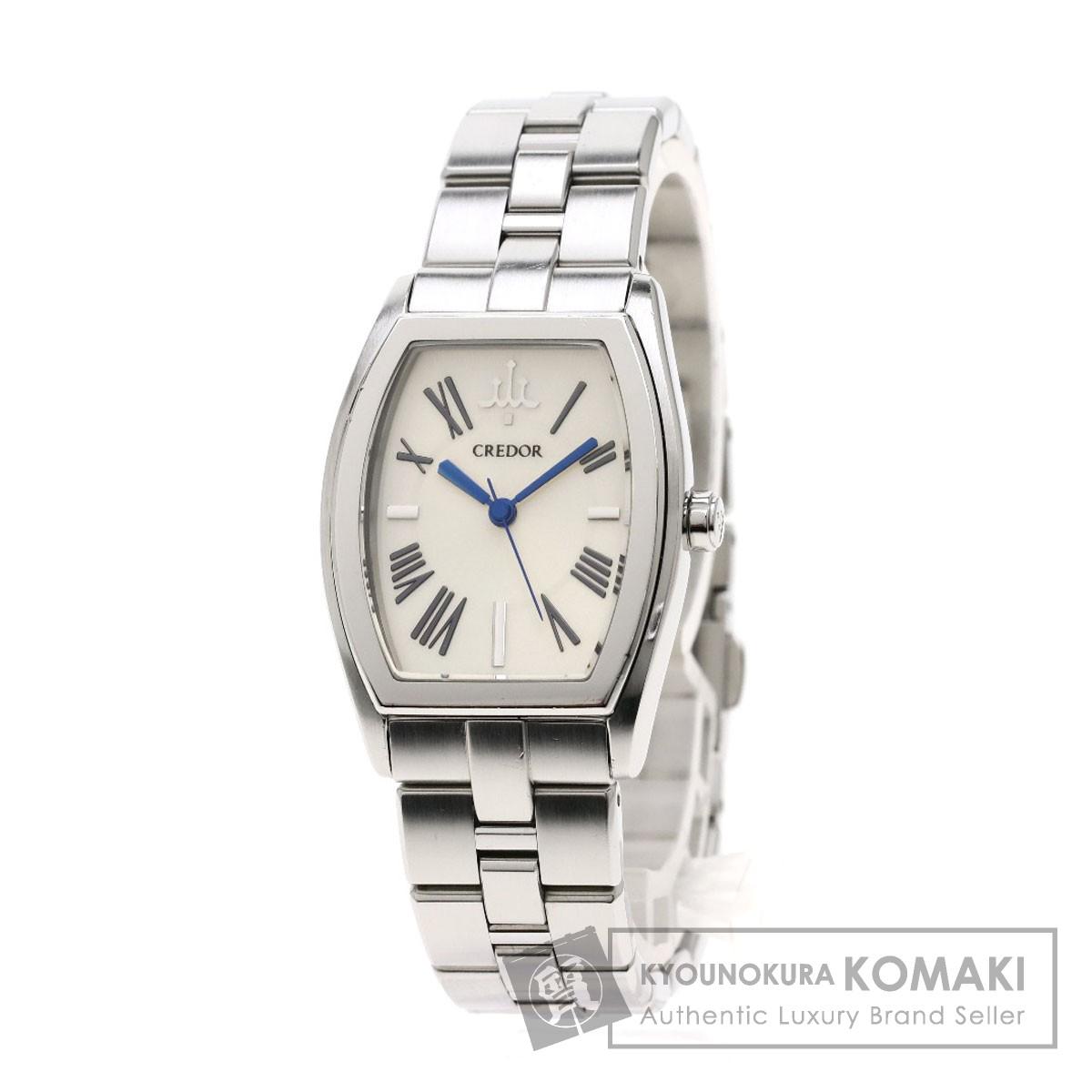 セイコー 4J81-0AE0 クレドール シグノアクア 腕時計 ステンレススチール/SS レディース 【中古】【SEIKO】