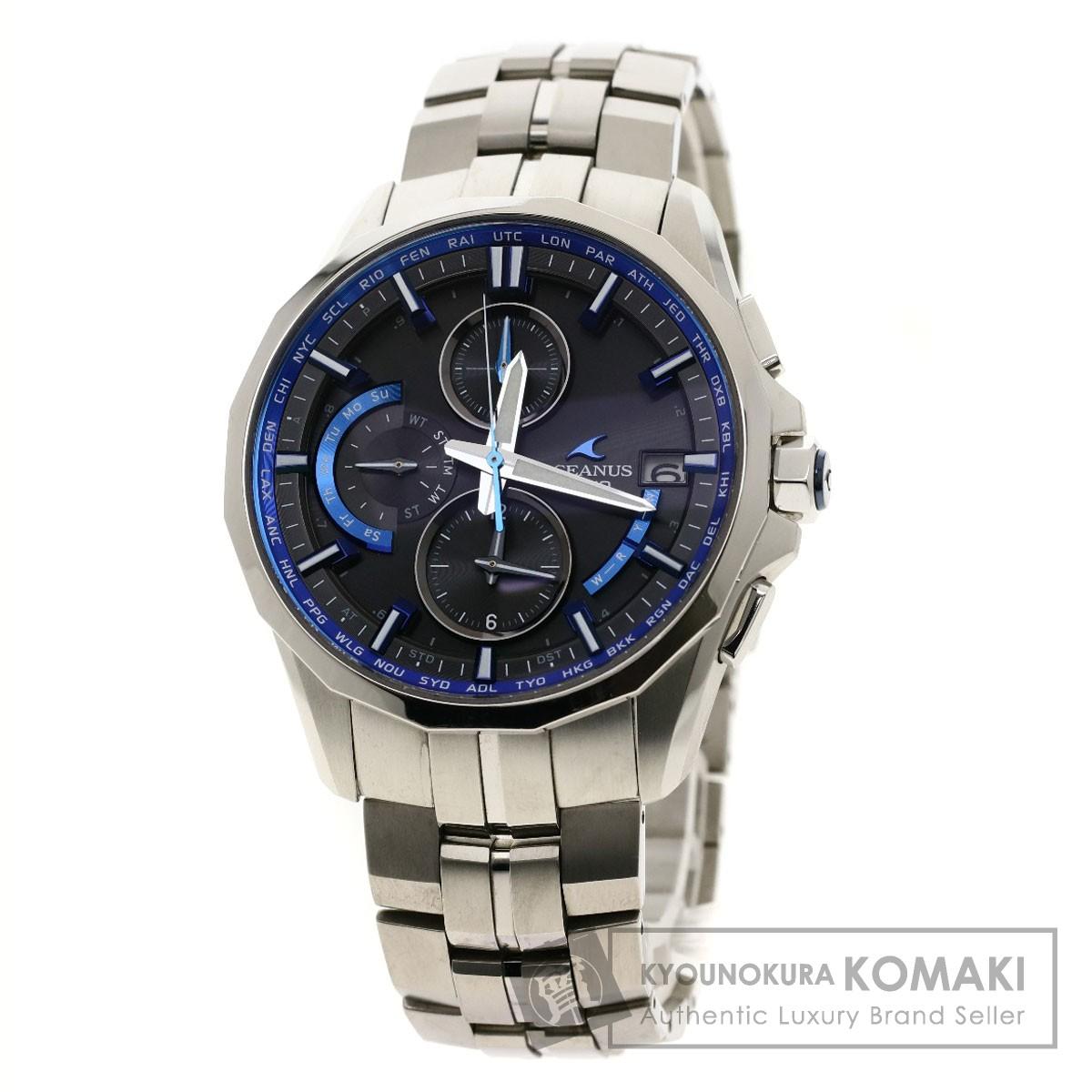 カシオ OCW-S3000 オシアナスマンタ 腕時計 チタン/チタン メンズ 【中古】【CASIO】