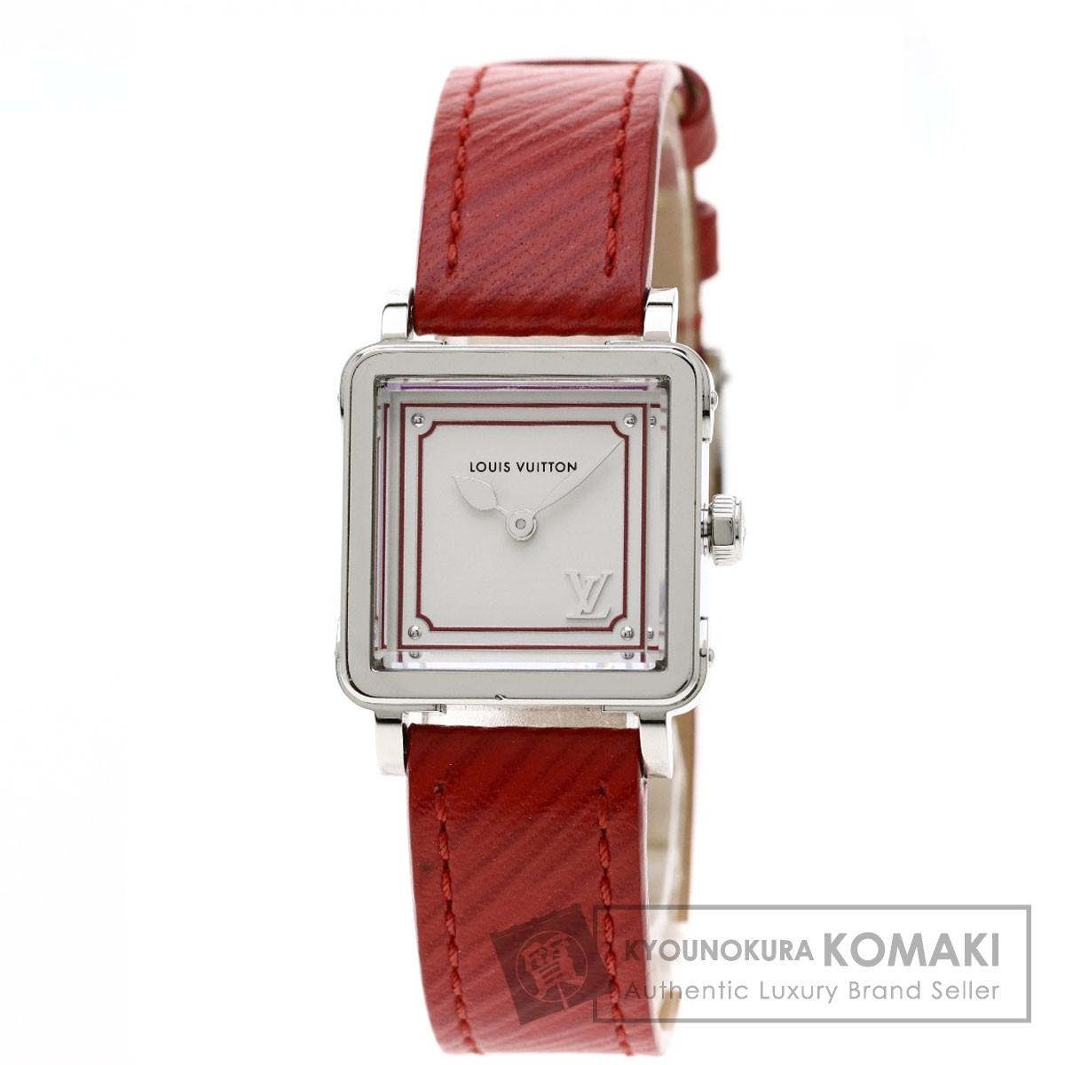 ルイヴィトン Q32MOA アンプリーズPM  腕時計 ステンレススチール/革 レディース 【中古】【LOUIS VUITTON】