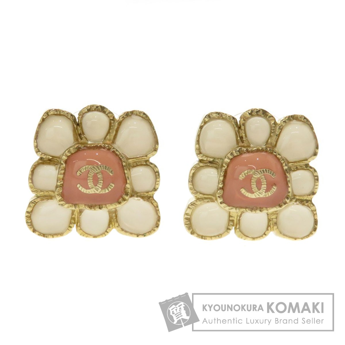 5cbad6d3e0 BRAND:CHANEL; TYPE: Flower motif COCO Mark earring Metal; 100% AUTHENTIC ...