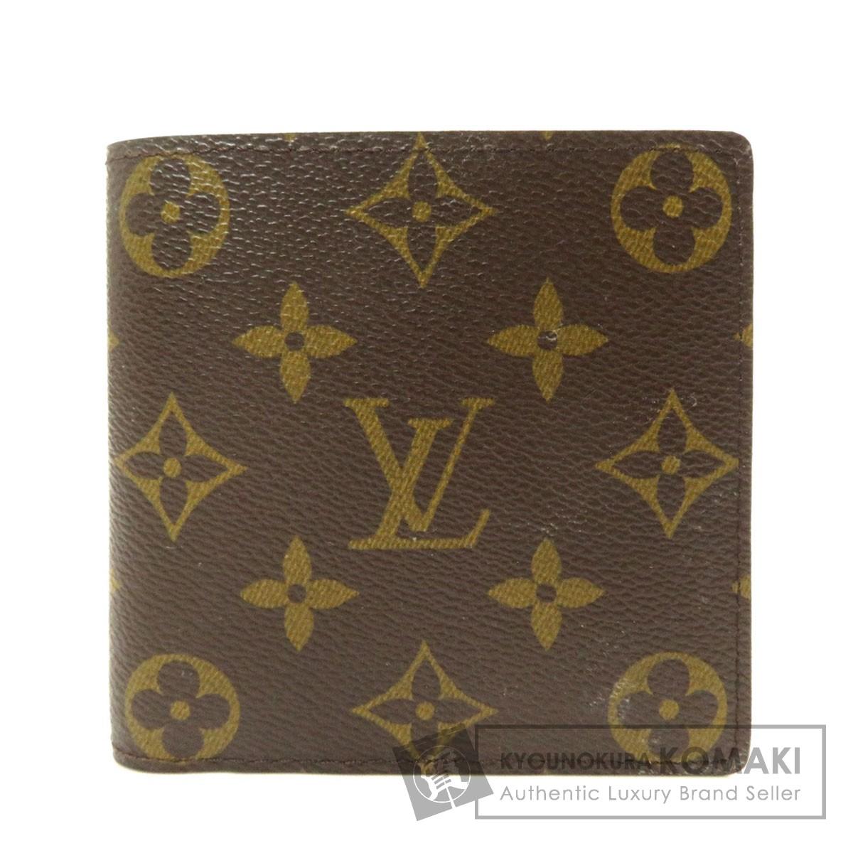 ルイヴィトン M61675 ポルトフォイユ・マルコ 二つ折り財布(小銭入れあり) モノグラムキャンバス メンズ 【中古】【LOUIS VUITTON】