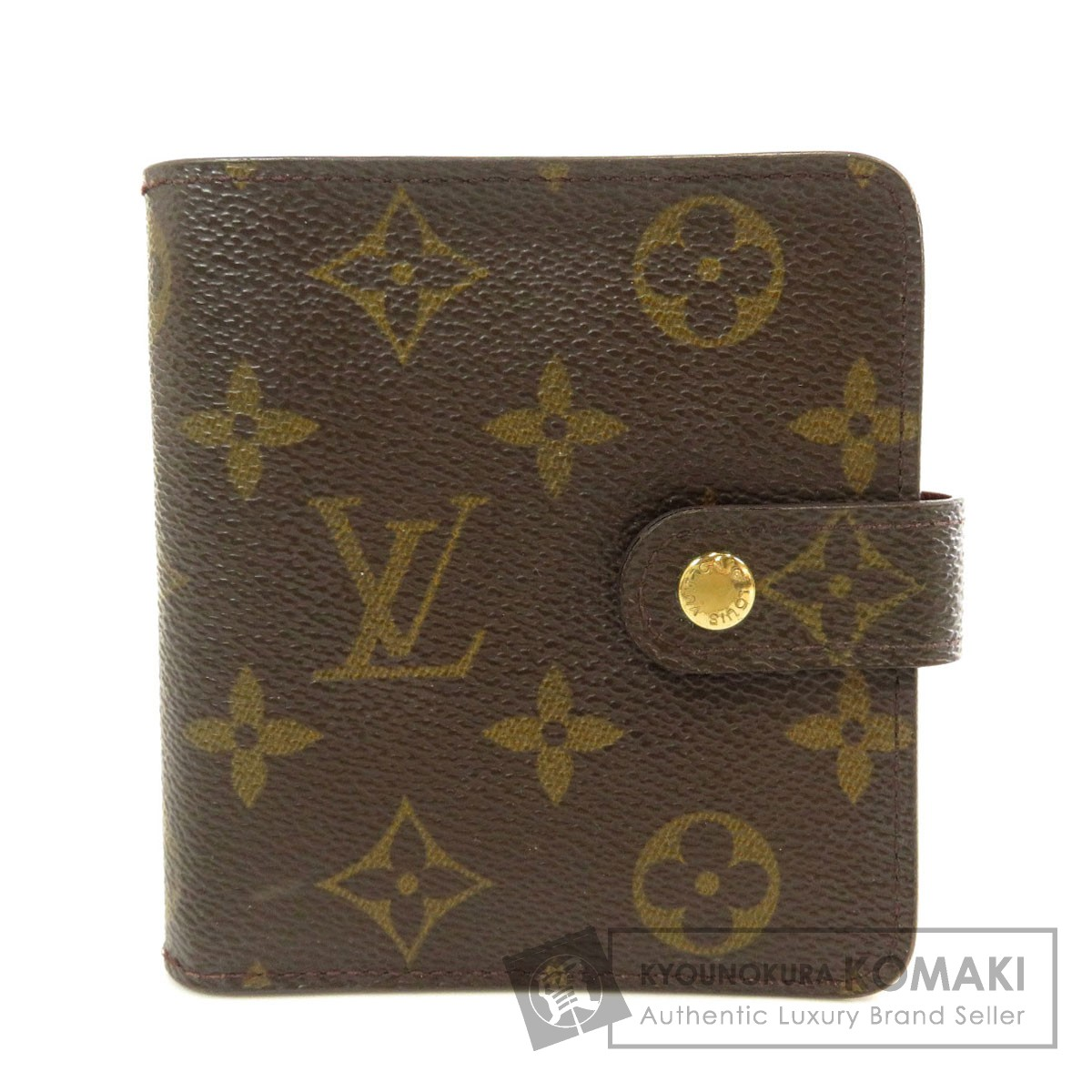 ルイヴィトン M61667 コンパクトジップ 二つ折り財布(小銭入れあり) モノグラムキャンバス レディース 【中古】【LOUIS VUITTON】