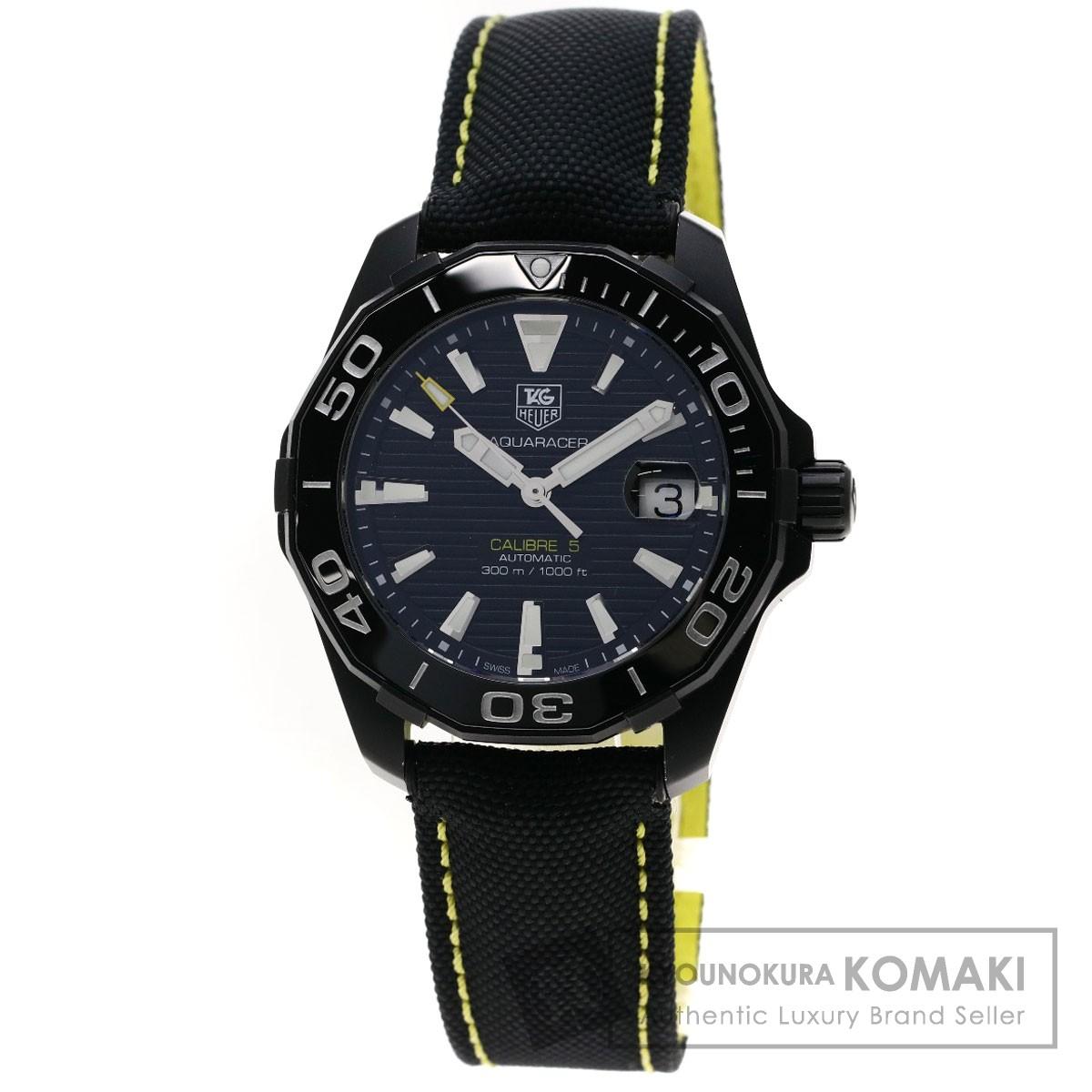 タグホイヤー WAY218A アクアレーサー 腕時計 チタン/革 メンズ 【中古】【TAG HEUER】