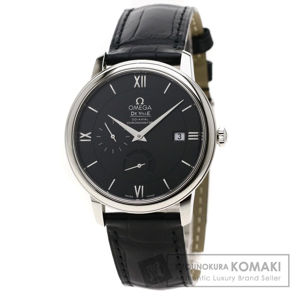 オメガ デビルプレステージ 腕時計 ステンレススチール/革 メンズ 【中古】【OMEGA】