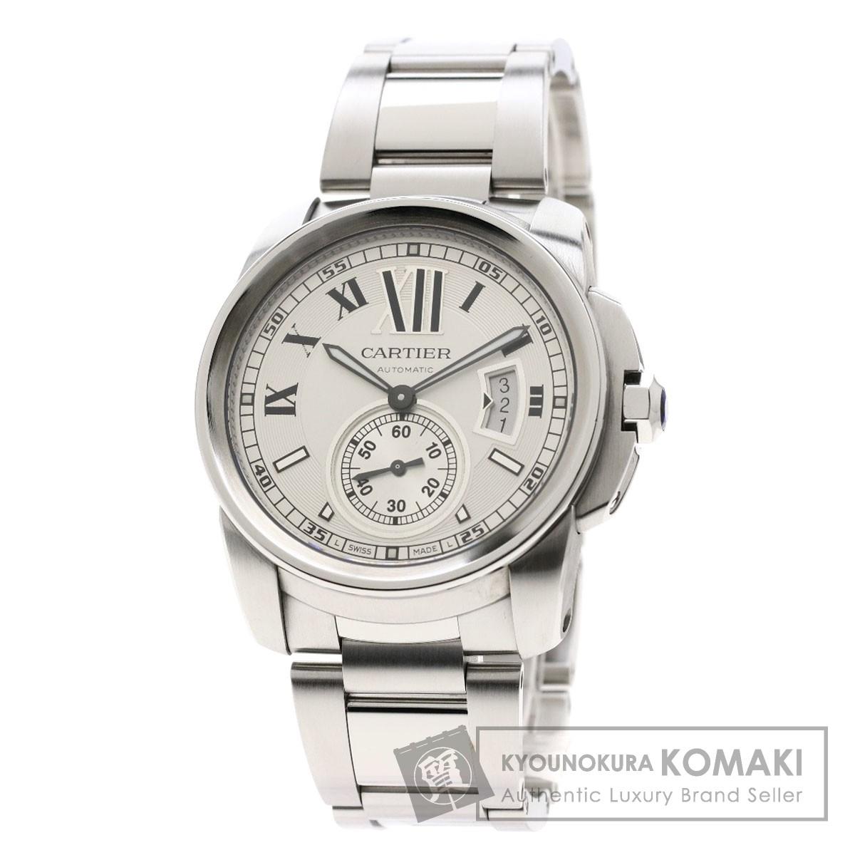 カルティエ W7100015 カリブル ドゥ カルティエ 腕時計 ステンレススチール/SS メンズ 【中古】【CARTIER】