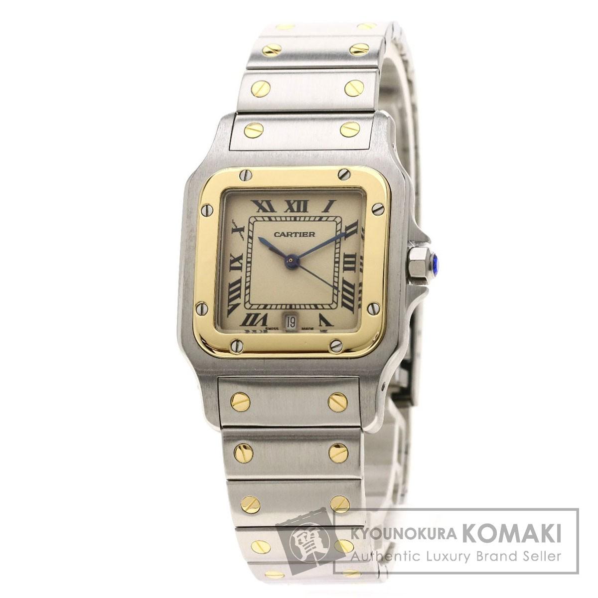カルティエ W20011C4 サントスガルベ LM 腕時計 ステンレススチール/SSxK18YG メンズ 【中古】【CARTIER】