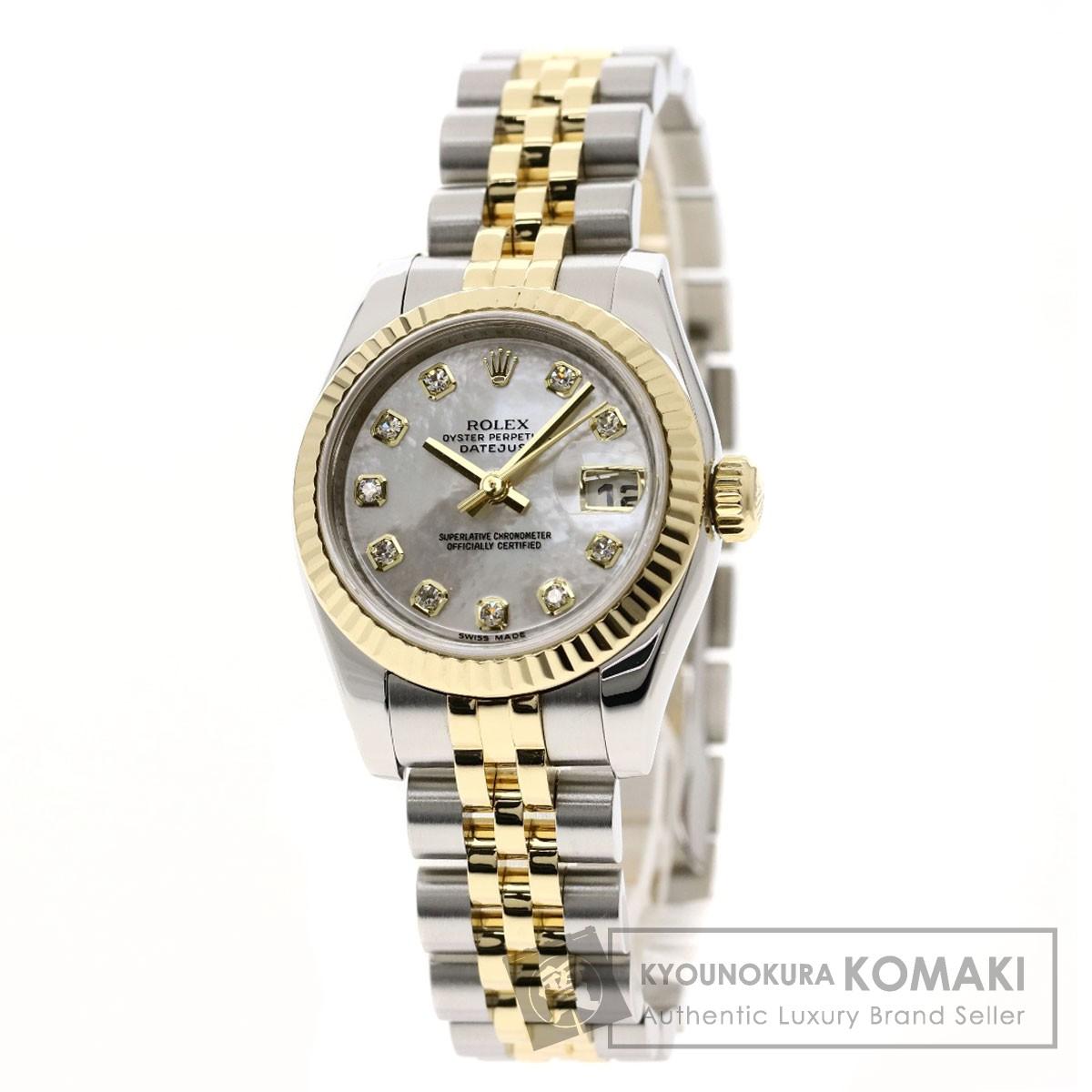 ロレックス 179173NG デイトジャスト 腕時計 OH済 ステンレススチール/K18YGxSS レディース 【中古】【ROLEX】