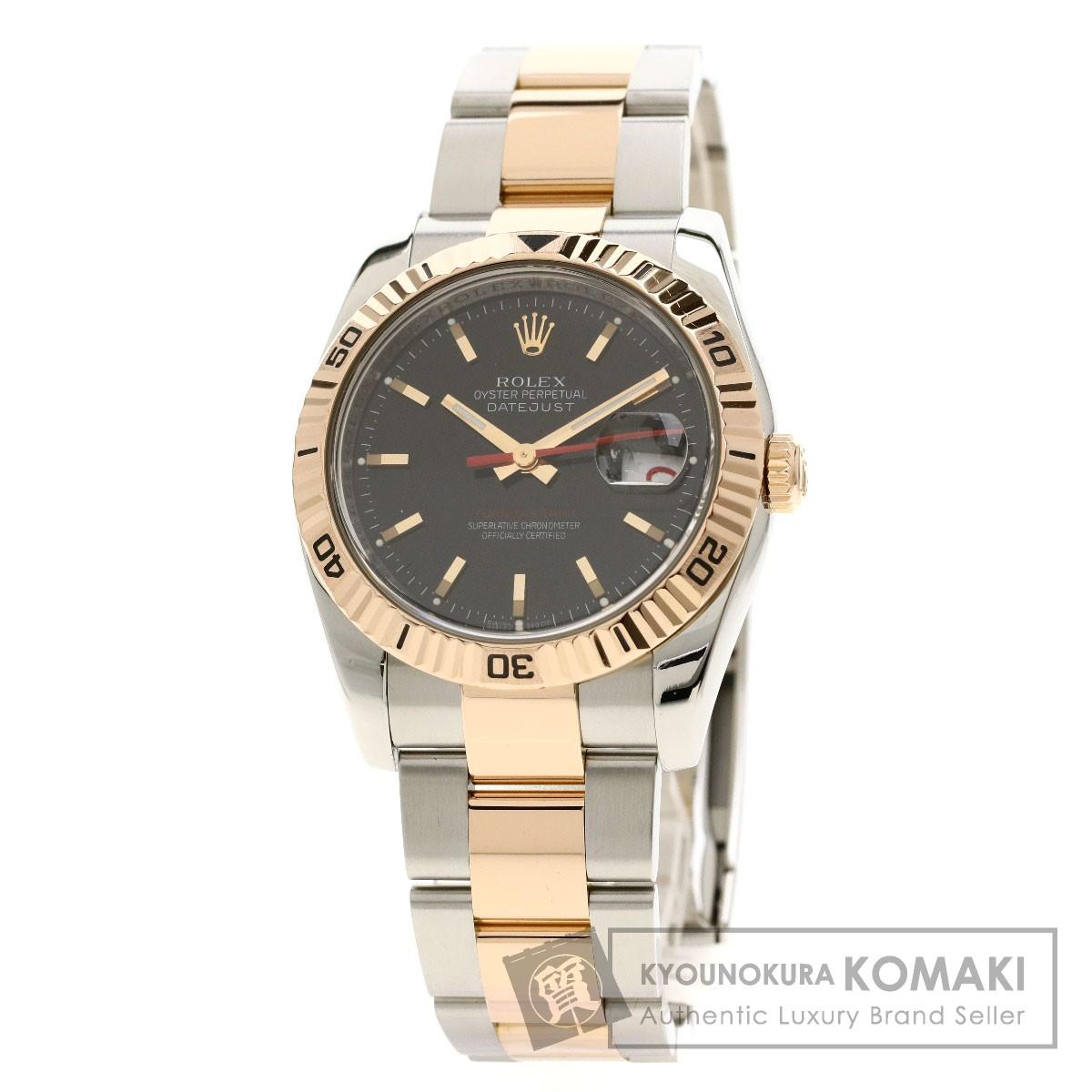 ロレックス 11626 デイトジャスト 腕時計 OH済 ステンレススチール/K81PGxSS メンズ 【中古】【ROLEX】