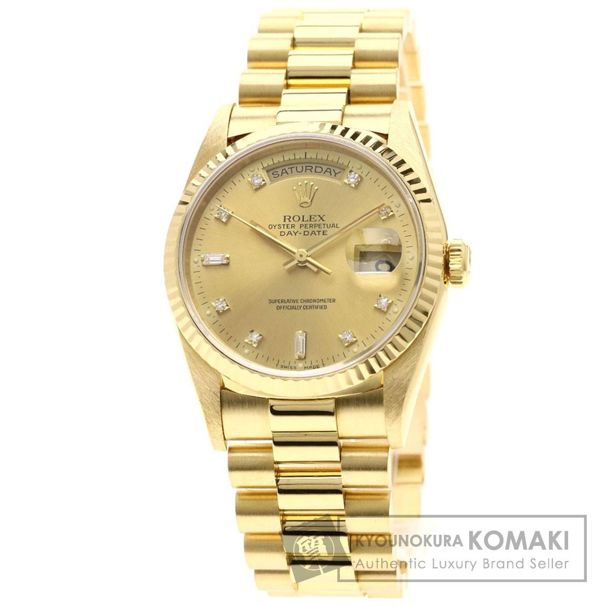 ロレックス 18238A デイテイト 腕時計 OH済 K18イエローゴールド/K18YG メンズ 【中古】【ROLEX】