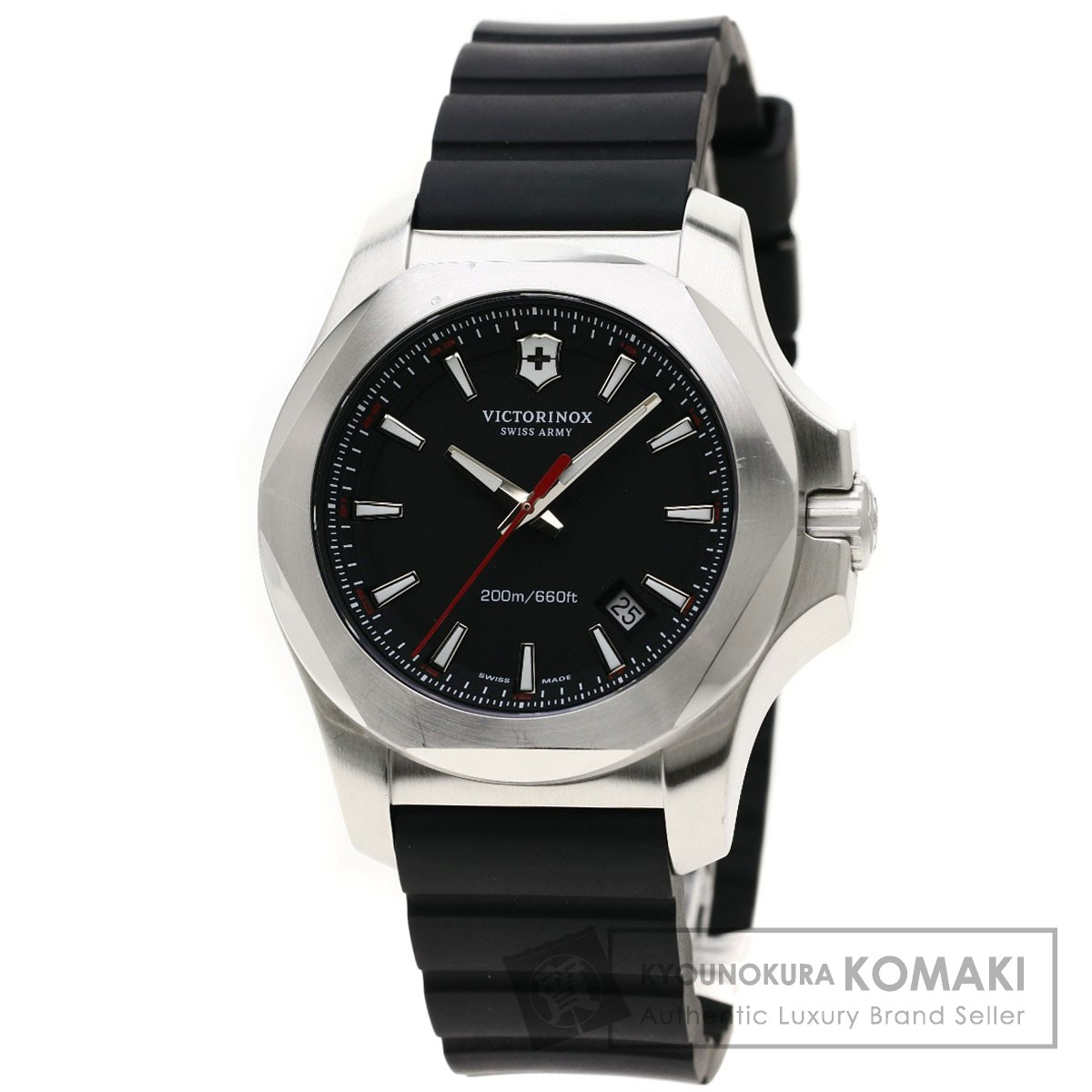 ビクトリノックス 241726.1 イノックス パラコード 腕時計 ステンレススチール/ラバー メンズ 【中古】【Victorinox】