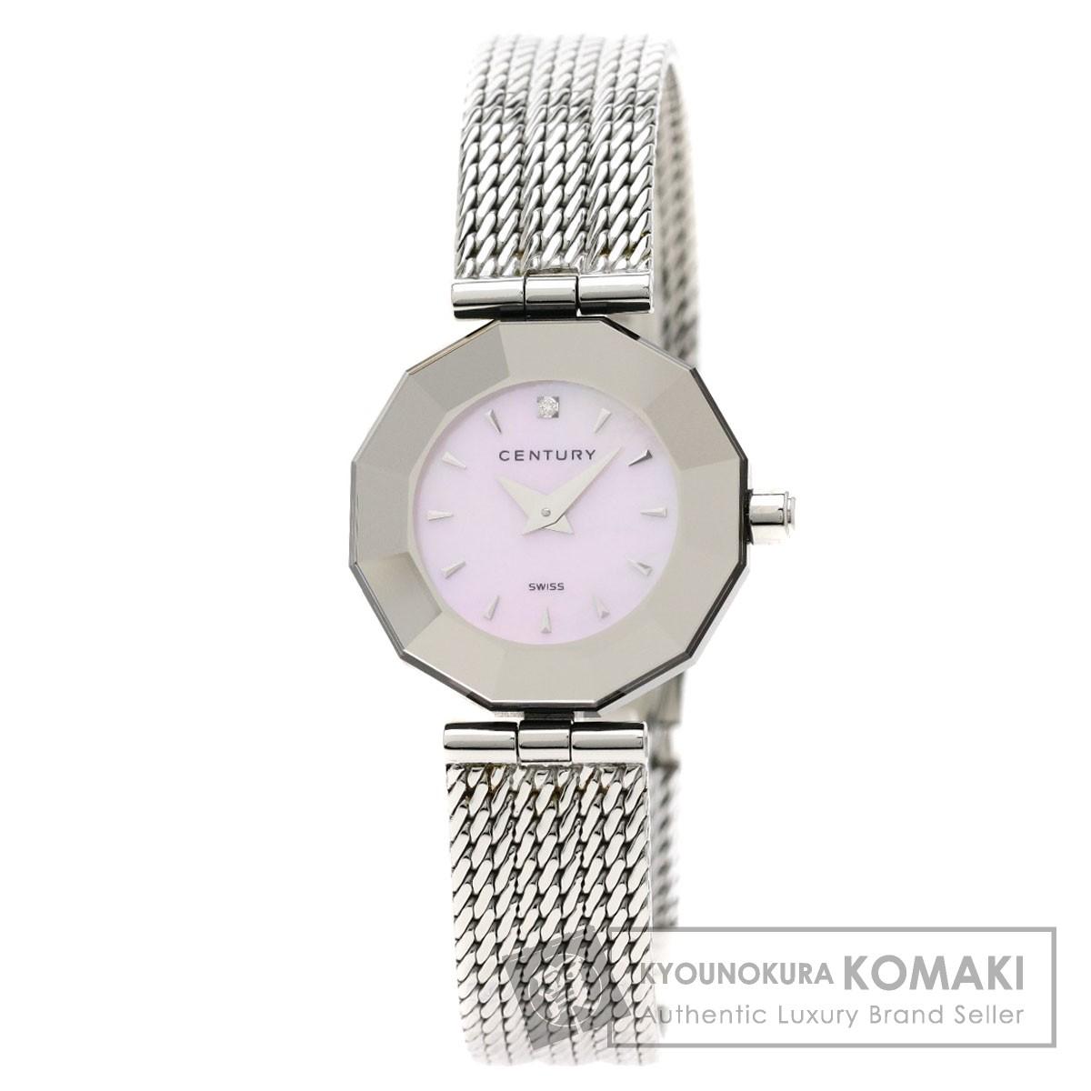 センチュリー プライムタイム 1Pダイヤモンド 腕時計 ステンレススチール/SS レディース 【中古】【CENTURY】