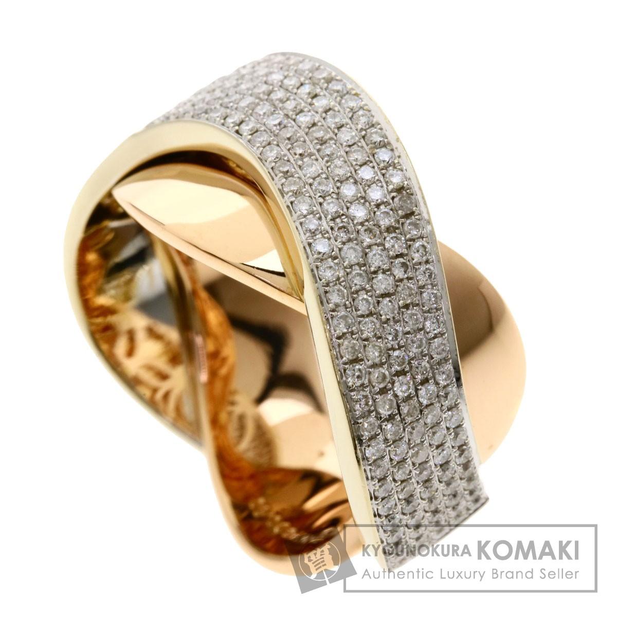 0.6ct ダイヤモンド リング・指輪 K18ピンクゴールド 12.5g レディース 【中古】