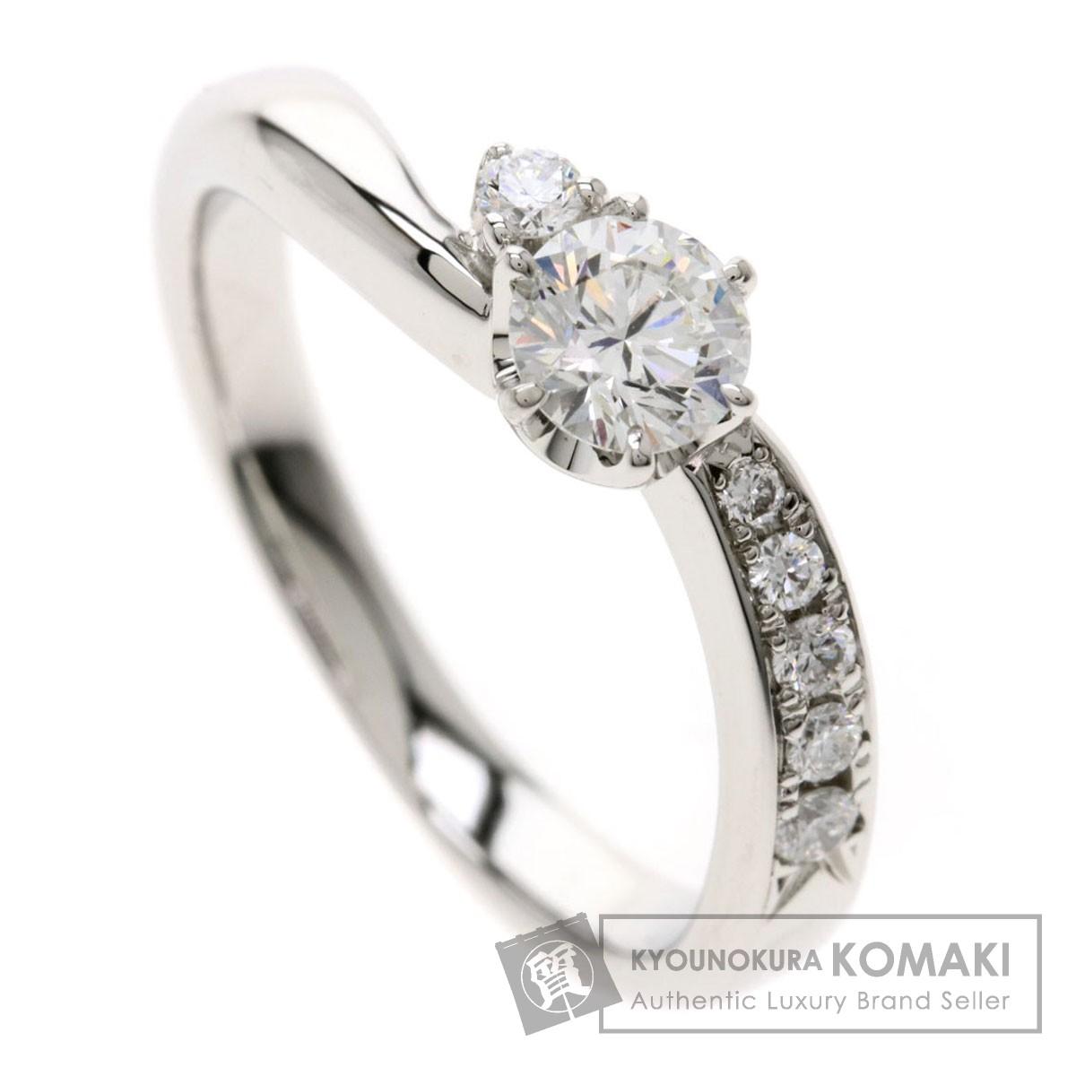 0.323ct ダイヤモンド リング・指輪 プラチナPT900 4.8g レディース 【中古】