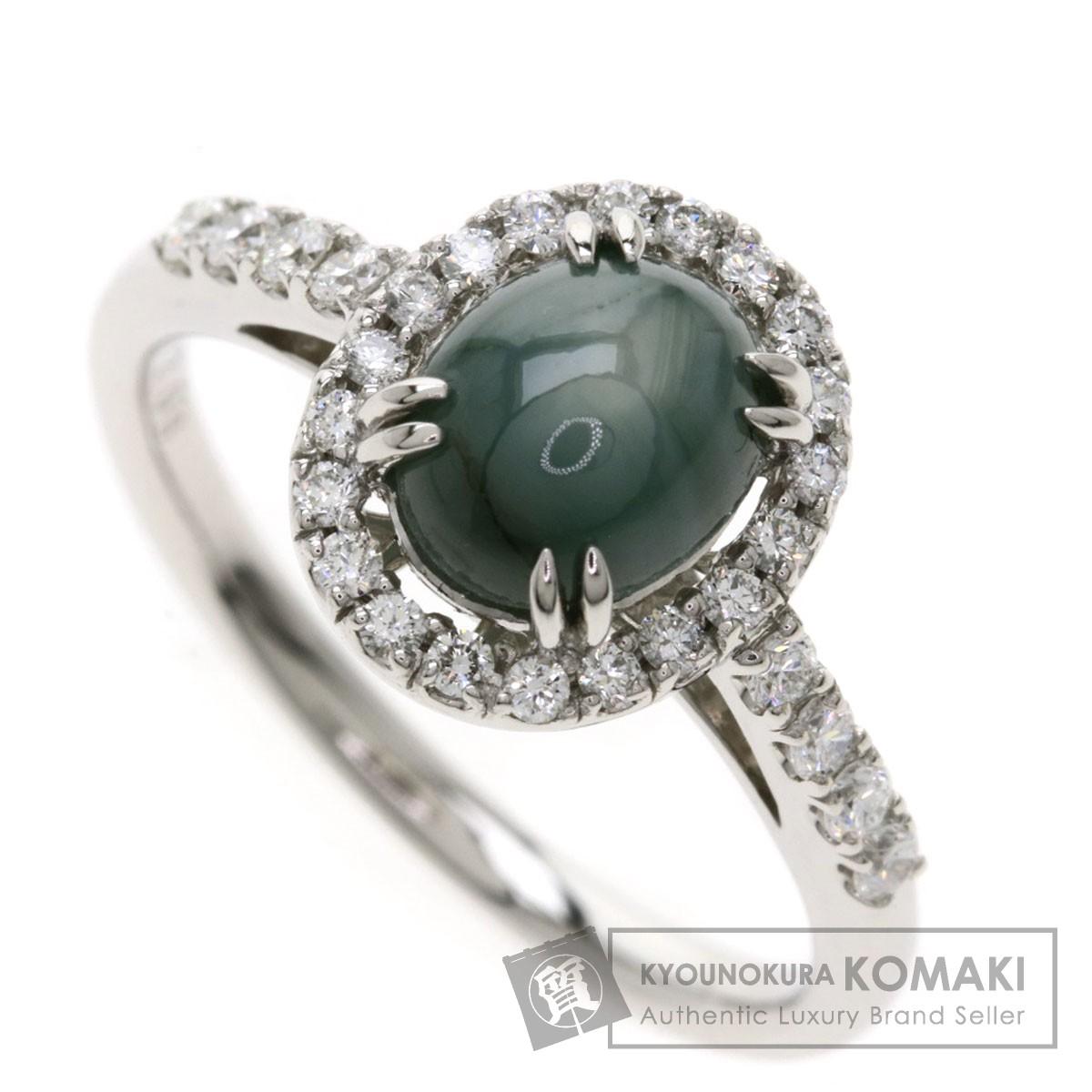 2.08ct スターサファイア ダイヤモンド リング・指輪 プラチナPT900 5.1g レディース 【中古】
