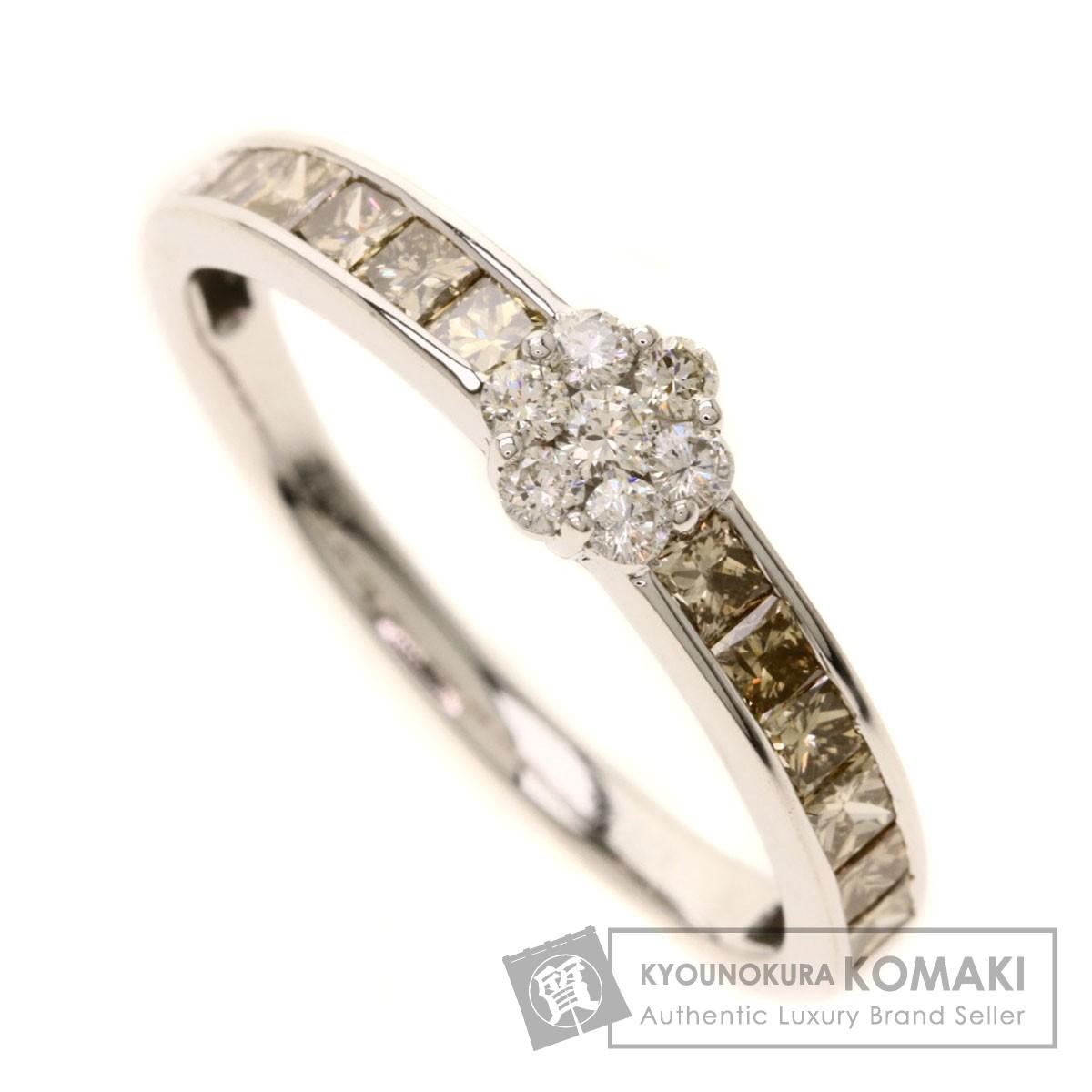 0.72ct ダイヤモンド リング・指輪 K18ホワイトゴールド 2.5g レディース 【中古】