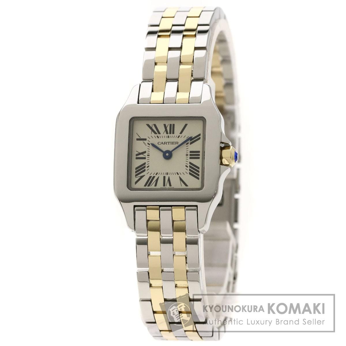カルティエ W25066Z6 サントスドゥモアゼルSM 腕時計 ステンレススチール/SSxK18YG レディース 【中古】【CARTIER】