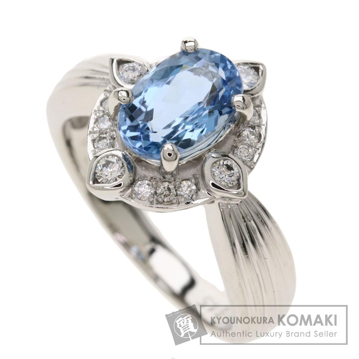 1.545ct アクアマリン ダイヤモンド リング・指輪 プラチナPT900 8.2g レディース 【中古】