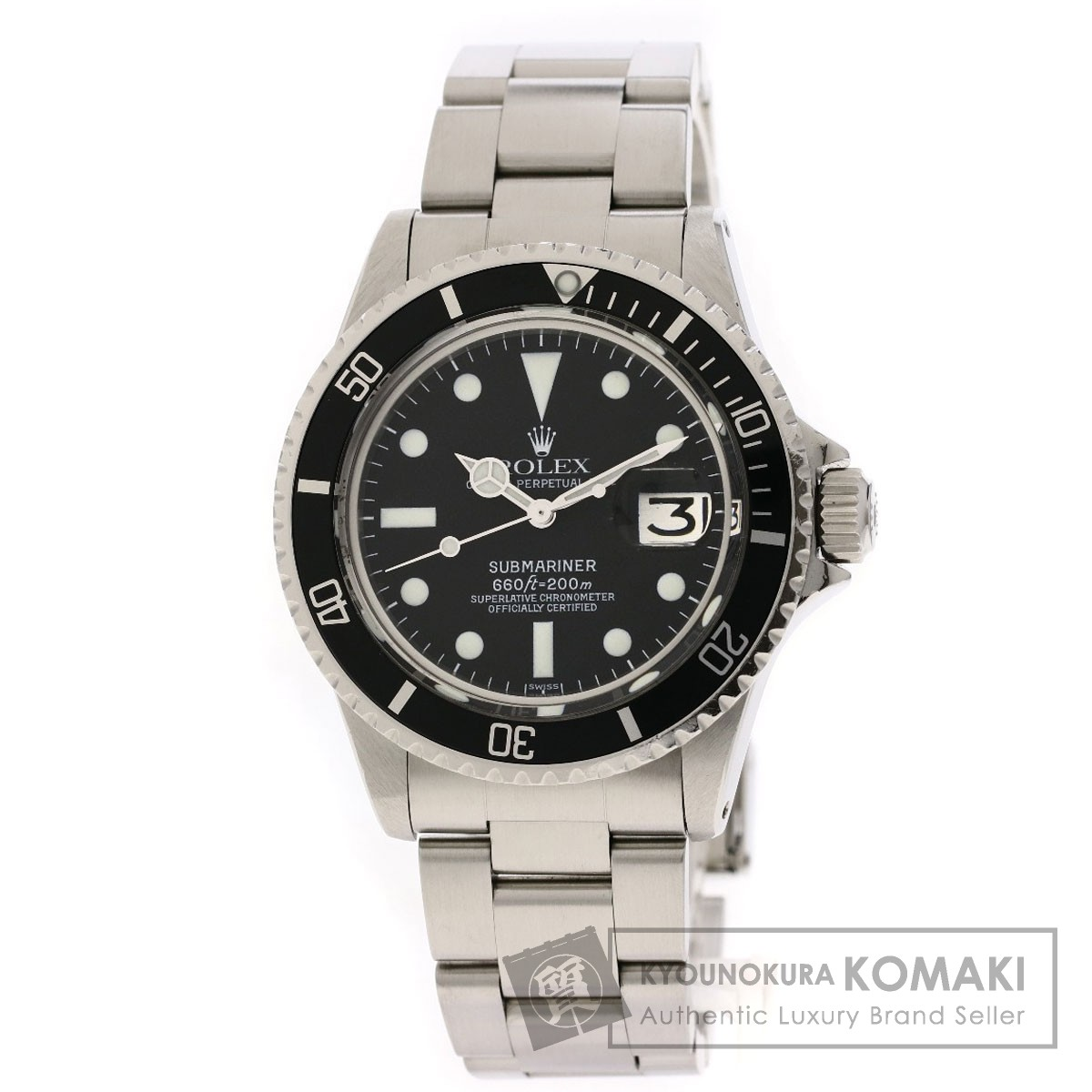 ロレックス 1680 サブマリーナ デイト 腕時計 OH済 ステンレススチール/SS メンズ 【中古】【ROLEX】