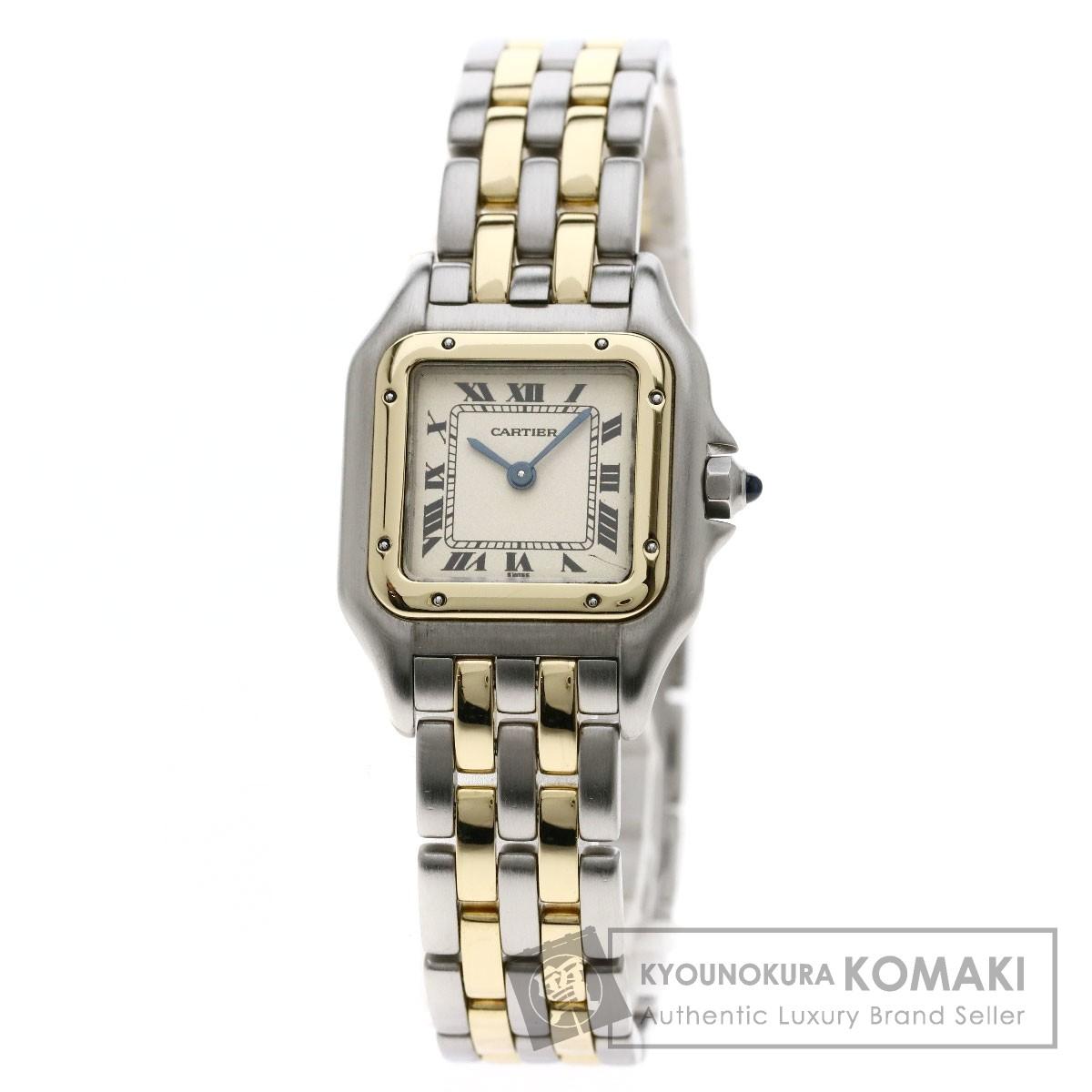 カルティエ パンテール 2ROW 腕時計 ステンレススチール/SSxK18YG レディース 【中古】【CARTIER】