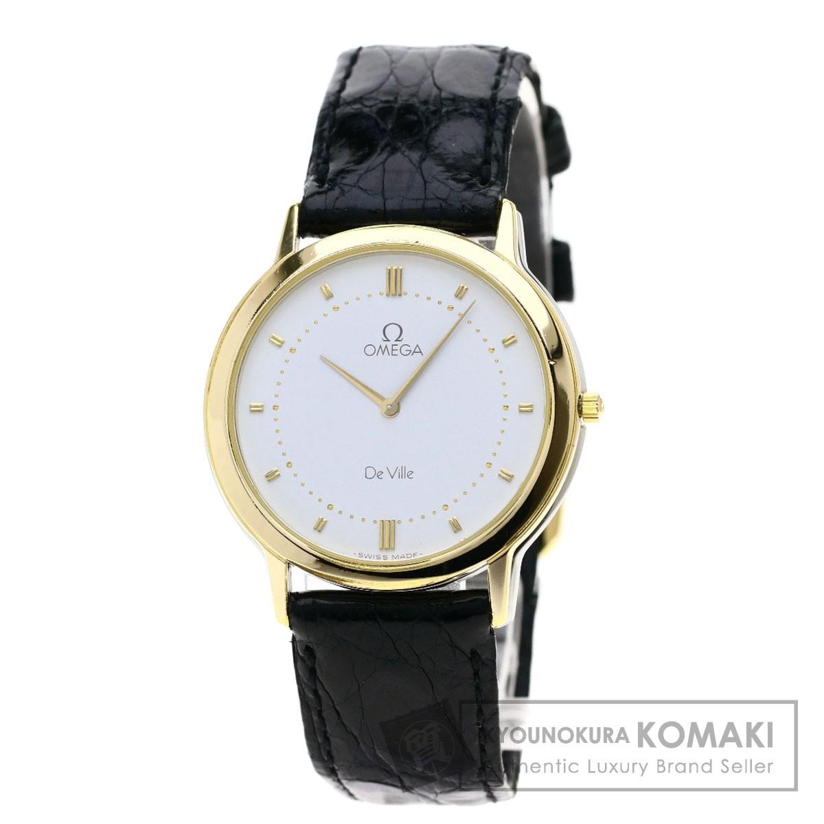 オメガ デビル 腕時計 ステンレススチール/革/GP メンズ 【中古】【OMEGA】