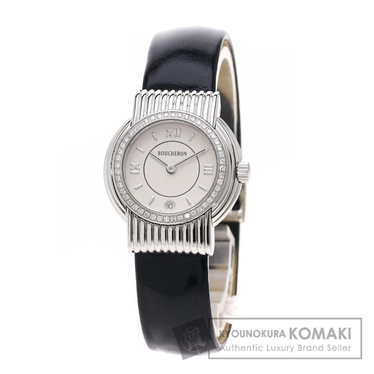 ブシュロン ソリス 腕時計 ステンレススチール/革 レディース 【中古】【Boucheron】