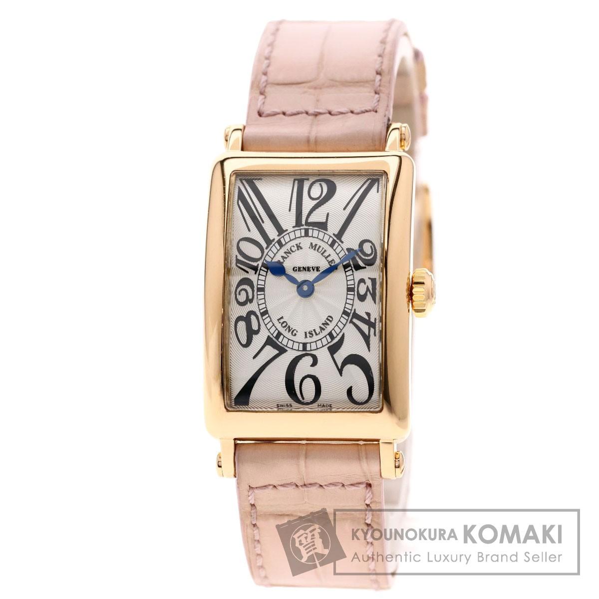 フランクミュラー 902QZ ロングアイランド 腕時計 K18ピンクゴールド/クロコダイル レディース 【中古】【FRANCK MULLER】