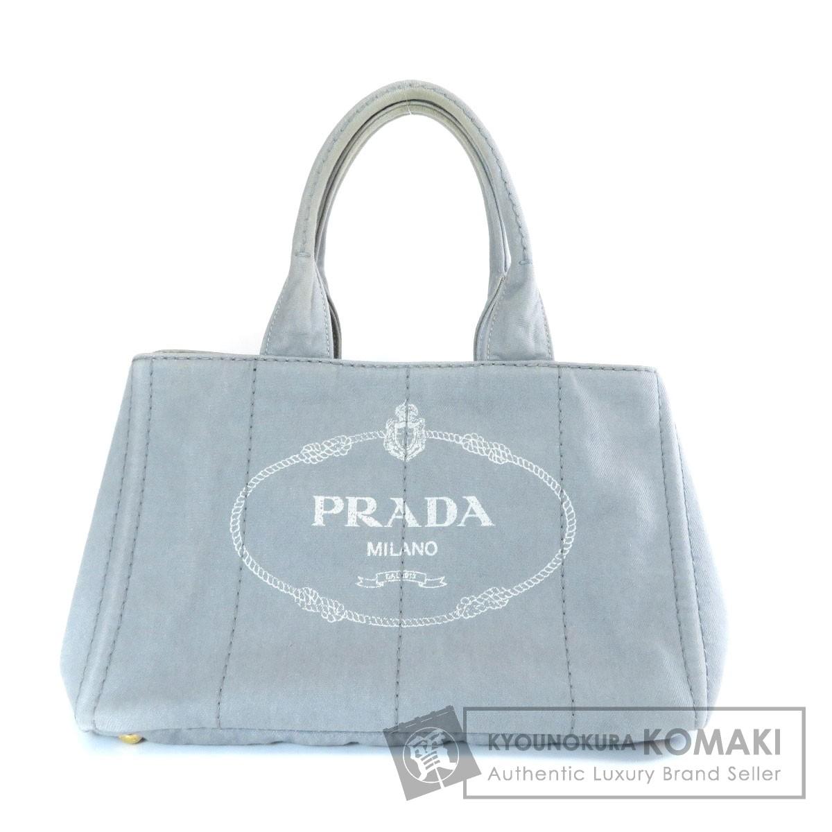 プラダ B1877B カナパ トートバッグ キャンバス レディース 【中古】【PRADA】