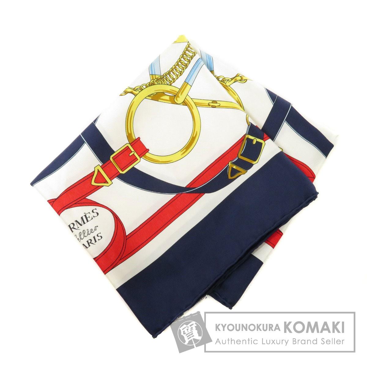 エルメス カレ90 EPERON D'OR スカーフ シルク レディース 【中古】【HERMES】