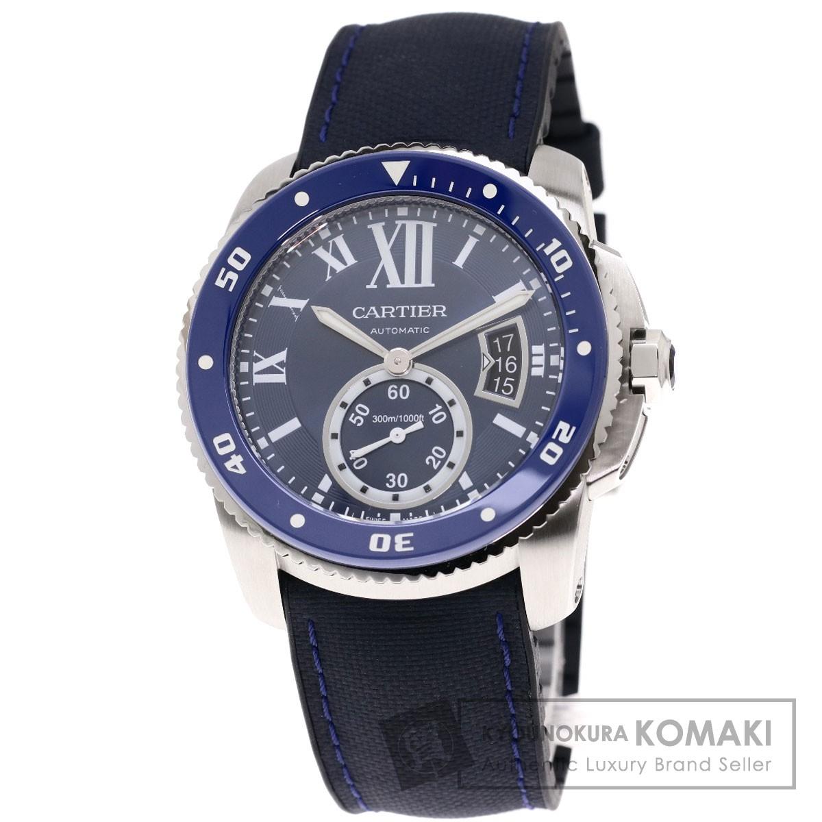 カルティエ WSCA0010 カリブル ダイバー 腕時計 OH済 ステンレススチール/ラバー メンズ 【中古】【CARTIER】