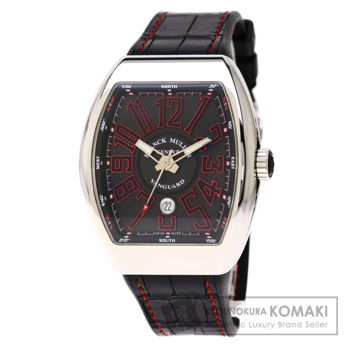 フランクミュラー V45SCDTJ ヴァンガード  腕時計 ステンレススチール/ラバーx革 メンズ 【中古】【FRANCK MULLER】